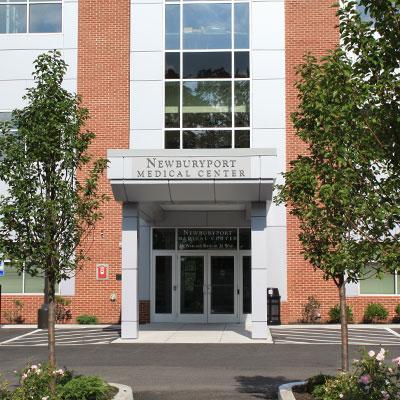 Newburyport Medical Center day patient facility entrance in Newburyport MA