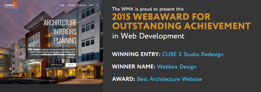 Web Marketing Association 2015 WebAward
